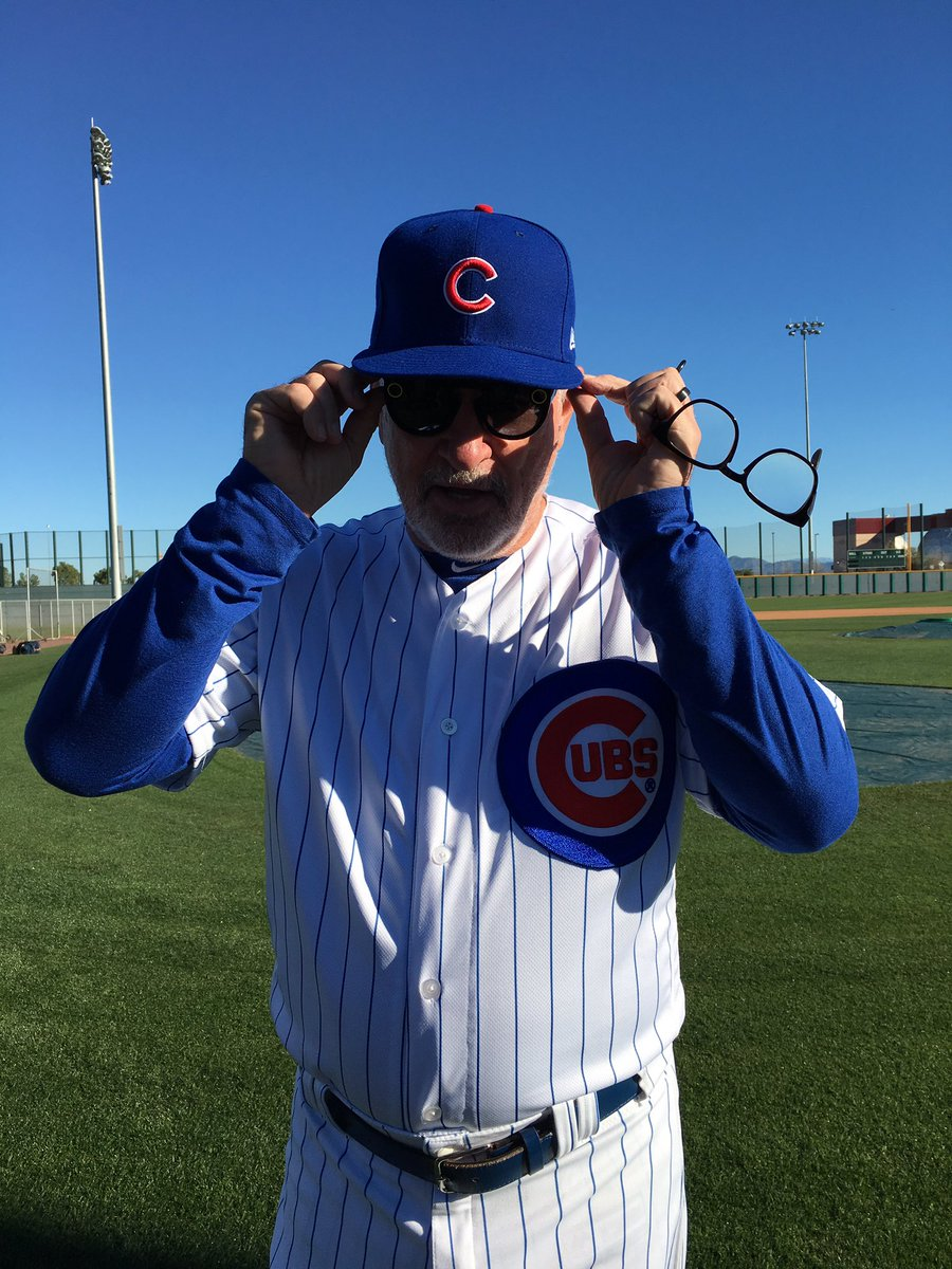 'I should argue with an umpire wearing these.' - @CubsJoeMadd https://...