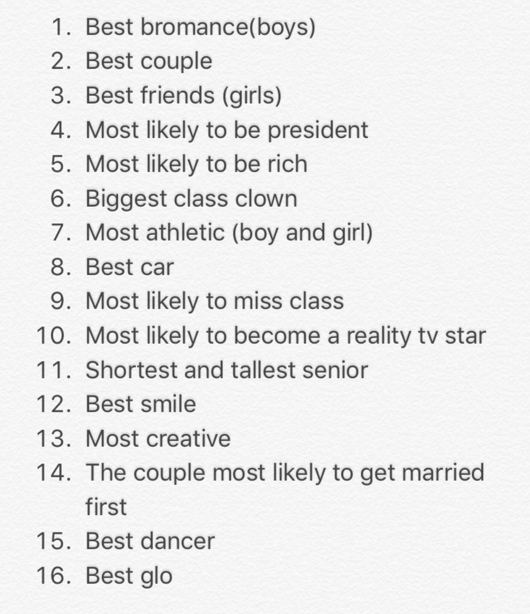 2k17 on twitter list of the senior superlatives tag us in your