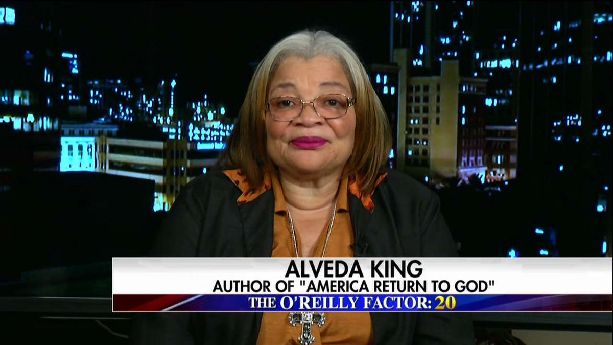 .@AlvedaCKing: &quot;The American dream is still alive, so the fake news calling [@POTUS] a racist, that has to stop.&quot; #OReillyFactor <br>http://pic.twitter.com/9WlDseFhrh