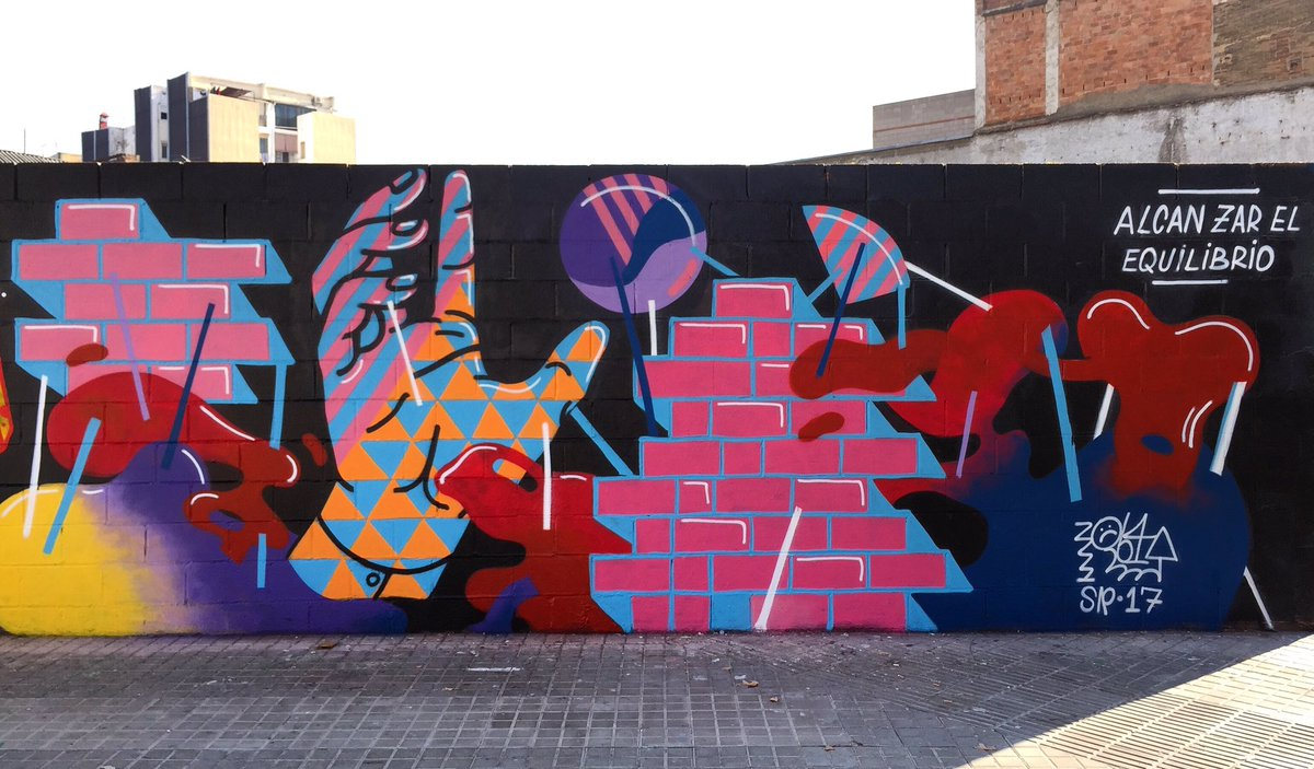 Graffiti wall barcelona - Elreydelaruina On Twitter Alcanzar El Equilibrio Elreydelaruina Streetart Graffiti Wall Barcelona Https T Co G0kkw09tmg
