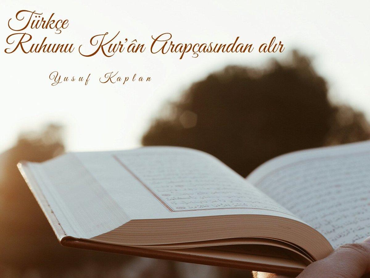 Türkçe  Ruhunu Kur'ân Arapçasından alır.  @yenisafakwriter https://t.c...