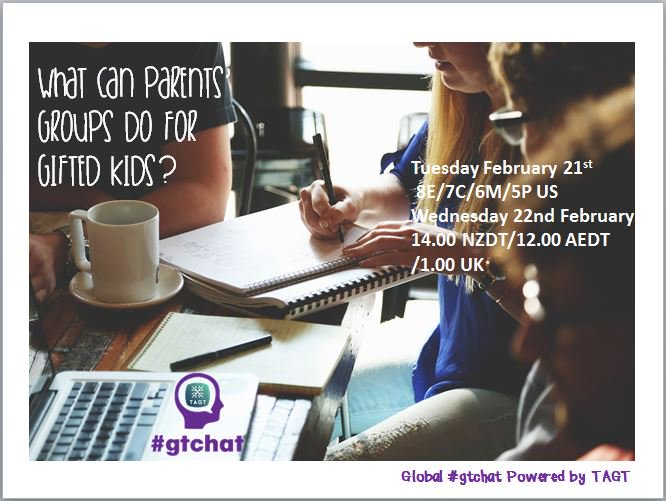 "T-10 till #gtchat - Today we'll be chatting about ""What Can Parents' Groups Do for Gifted Kids?"" https://t.co/IMBr8riqZd"