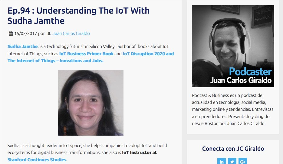 Podcast: Guest Speaker on JC Giraldo's Business Podcast — What is IoT?