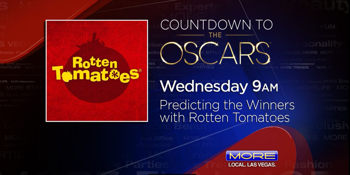 TOMORROW ON MORE @ 9 AM- #Oscars predictions with @graedrake. And live @MAGICMarketWeek. See you then on @FOX5Vegas