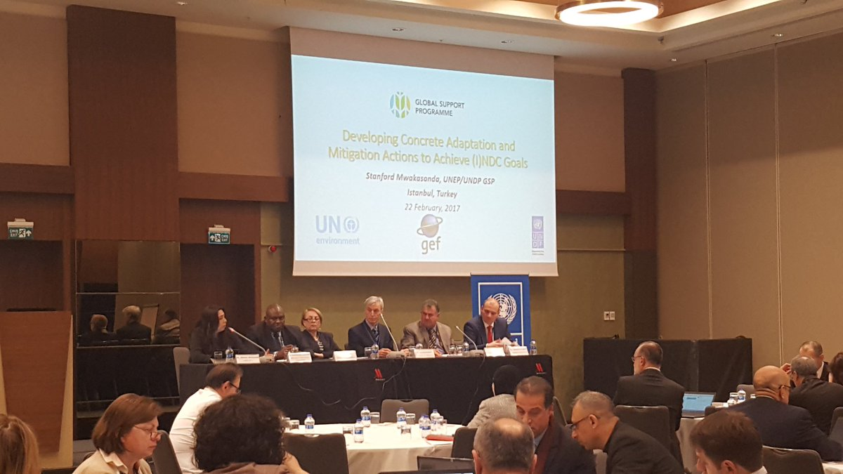 Day 2 of the #NDCdialogue opens with another high-level panel @UNEPDTU @EUClimateAction @iki_bmub @BMZ_Bund @UNDPClimate #ParisAgreement <br>http://pic.twitter.com/vVGtaRDqgm