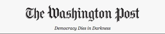 The @washingtonpost has a new slogan. And it's...awesome. https://t.co/VFNbSRPtjG