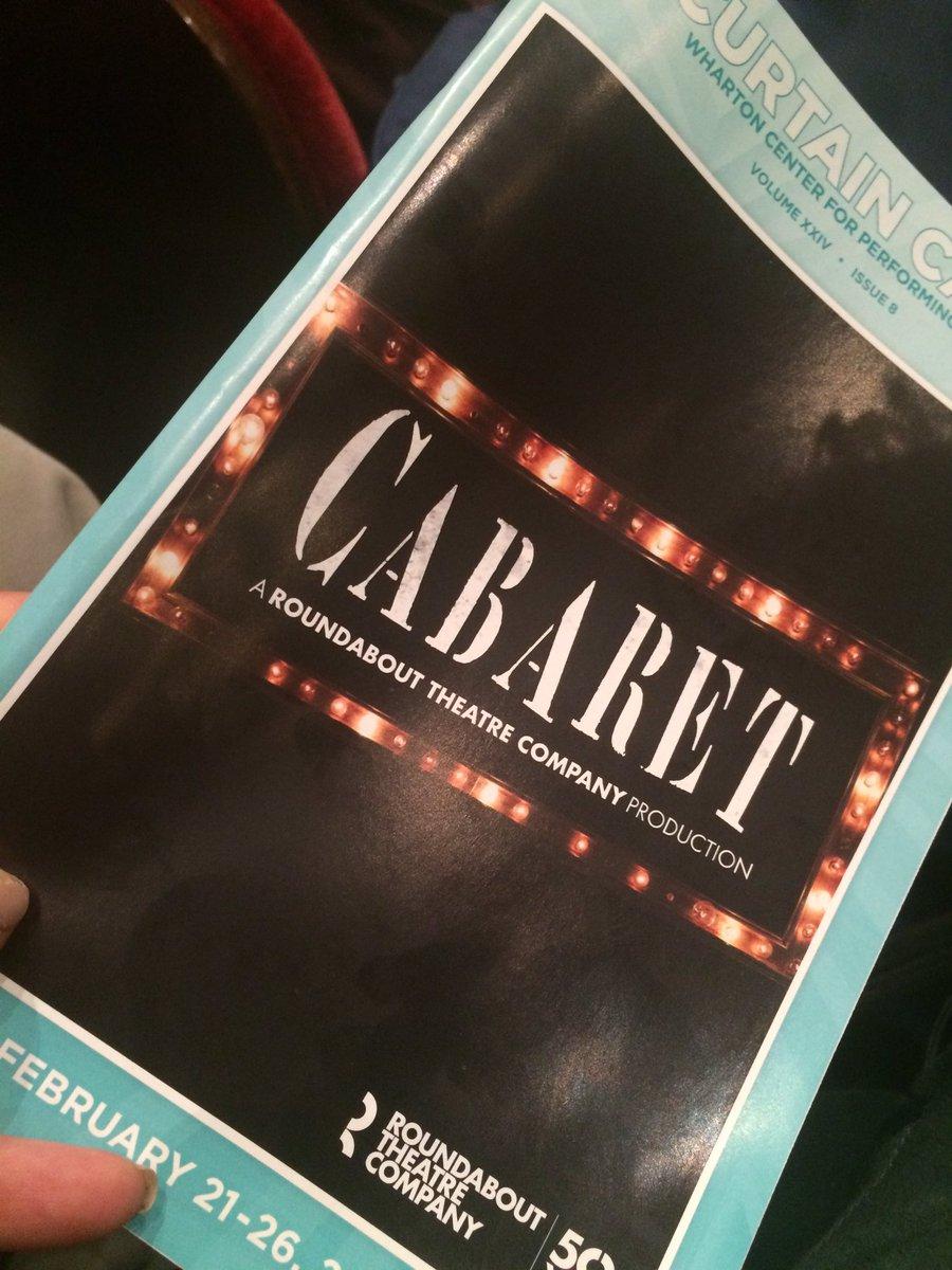 Amazing &amp; powerful performance of @Cabaret_Musical #MSU @WhartonCenter #OpeningNight #WelcomeToTheKitKatClub #Mazel  #WhartonCenter<br>http://pic.twitter.com/pDqhqoPXW6