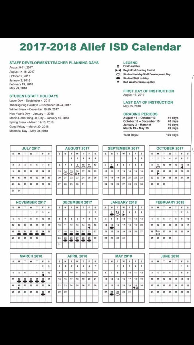 𝔼𝕝𝕤𝕚𝕜 ℍ𝕚𝕘𝕙 𝕊𝕔𝕙𝕠𝕠𝕝 On Twitter The New Aisd Calendar