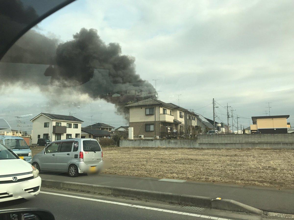 tweet : 【火災現地画像】茨城県結城市結城 ヒラノ産業結城配送 ...