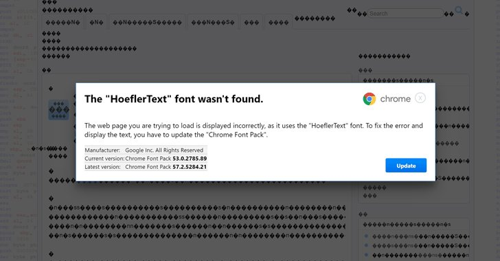 Beware! Don't Fall For 'Font Wasn't Found' #Google Chrome #Malware Scam https://t.co/25OjYGV1Om #hacking #security
