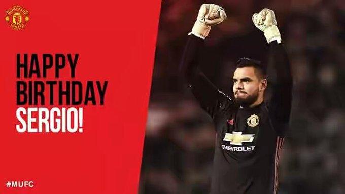 Happy birthday Sergio Romero..
