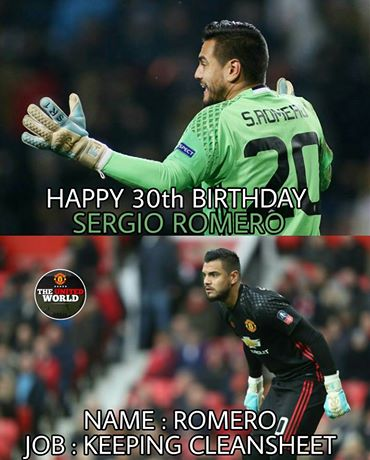 Best second choice GK in the league. Happy Birthday Sergio Romero