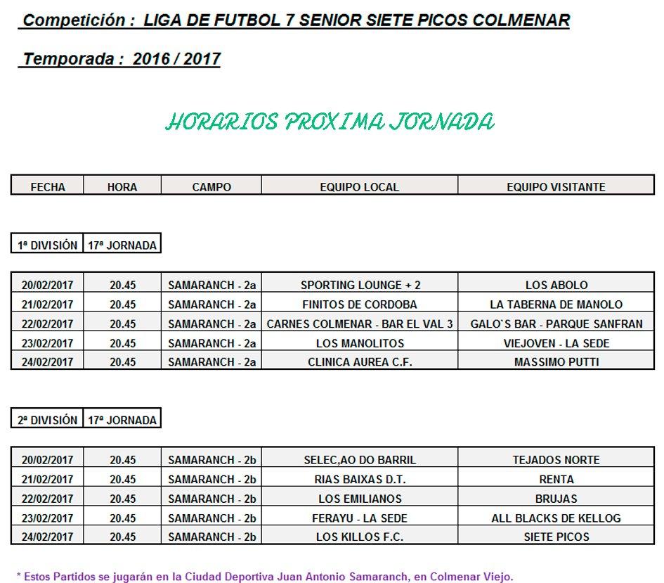 Futbol Calendario.Efsietepicos On Twitter Calendario Liga Futbol 7 Senior Siete