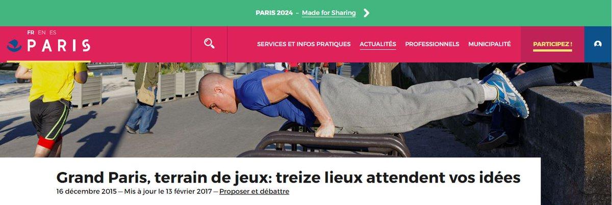 #GrandParis Terrain de Jeux : un appel à projet pour réinventer des lieux d&#39;activité sportive! #Paris2024 #OpenT #SaintDenis #Sports <br>http://pic.twitter.com/iy4Lq0x8tE