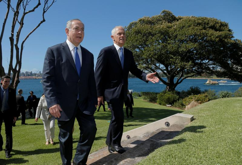 Netanyahu blasts U.N. 'hypocrisy', Australian PM opposes 'one-sided resolutions'