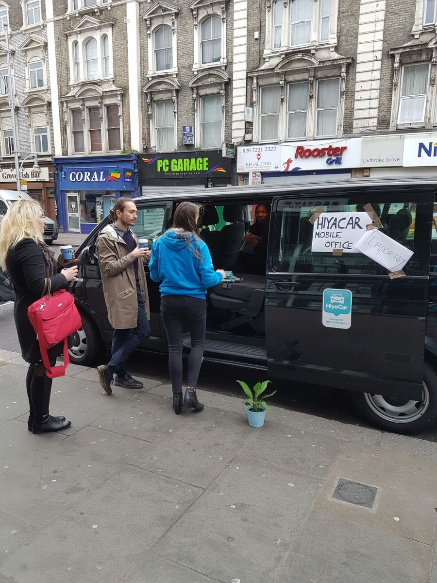 HiyaCar create mobile office to help commuters with tube strike