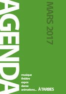 L&#39;agenda du mois de mars est disponible en version #numerique #sports #musique #theatre #concert #animation  http://www. tarbes.fr/fichier_kiosqu e/31_otagenda-mars2017-10,5x15-24-bd.pdf &nbsp; … <br>http://pic.twitter.com/tgUfEgaq6x