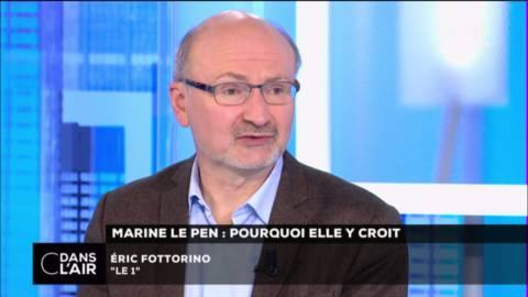 #MarineLePen : &quot;Moi je ne dis pas « peut-elle gagner ? » ; je dis : « peut-elle perdre, et qui peut la battre ? »&quot; Éric Fottorino #cdanslair <br>http://pic.twitter.com/gcoNrdGhld