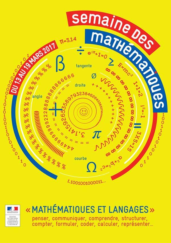 Au fait, à quoi servent les #maths ? La semaine des #mathématiques  y répond du 13 au 19 mars !  http:// bit.ly/2mbfly5  &nbsp;   cc @EducationFrance<br>http://pic.twitter.com/qapj5K7mCC