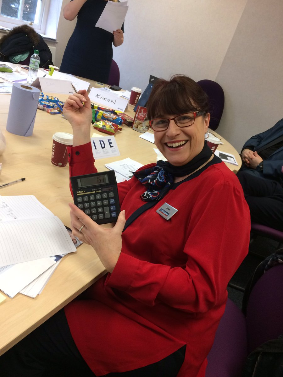 Great start to the Skilful Mortgage CR workshops! Michelle even came prepared with her giant calculator #Treasures @NBSTheShires<br>http://pic.twitter.com/s3f6OqQGm2