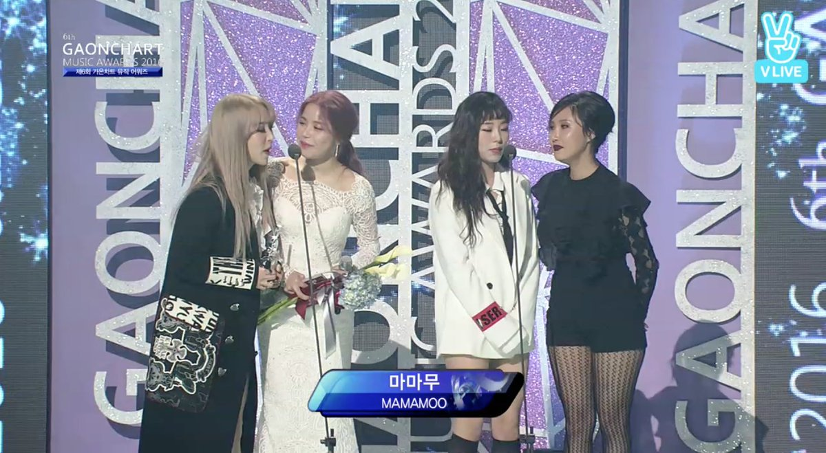 Artist of the year-Digital for February goes to MAMAMOO!! Congrats lad...