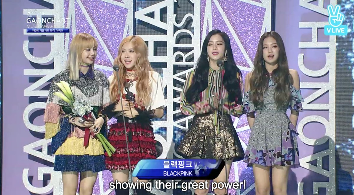 Rookie of the year award-Digital Part goes to BLACKPINK! Congrats! #Ga...
