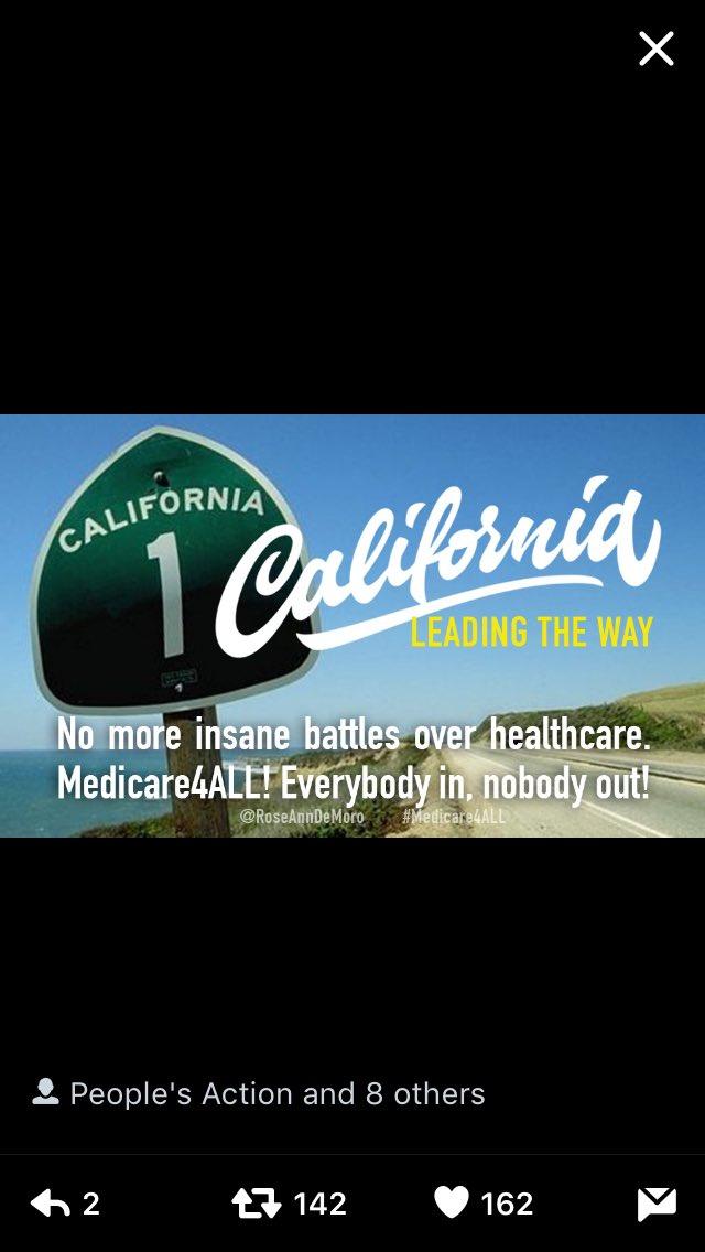 Un projet de loi en #Californie pour une assurance santé publique et universelle (sur le modèle Francais) #Medicare4All #SinglePayer <br>http://pic.twitter.com/KUVMGgAY4B