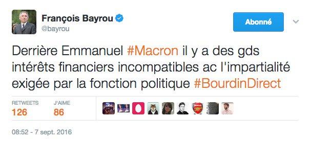 Ce que François #Bayrou disait d'Emmanuel #Macron... il y a six mois....