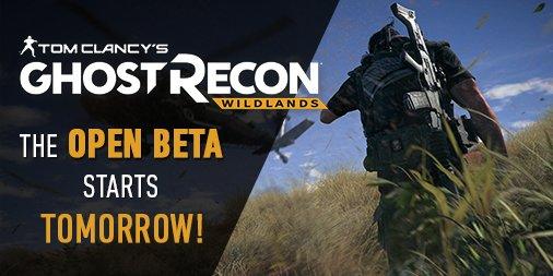 The Ghost Recon Wildlands Open Beta starts tomorrow! https://t.co/UX50AngJBr