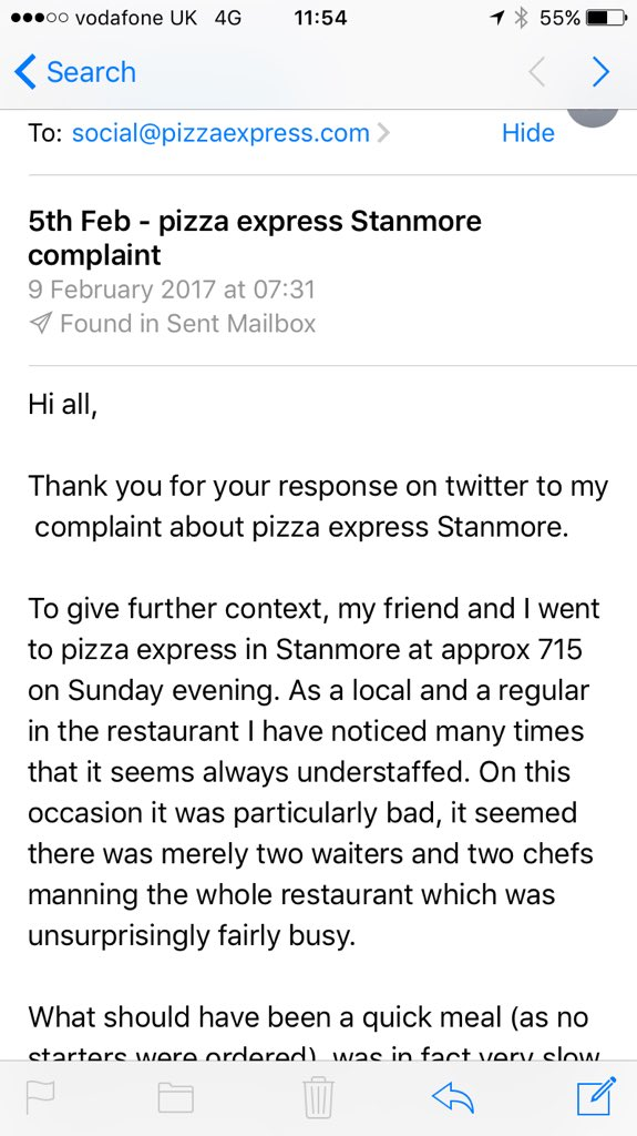 Pizzaexpress On Twitter You Should Have Heard Back From