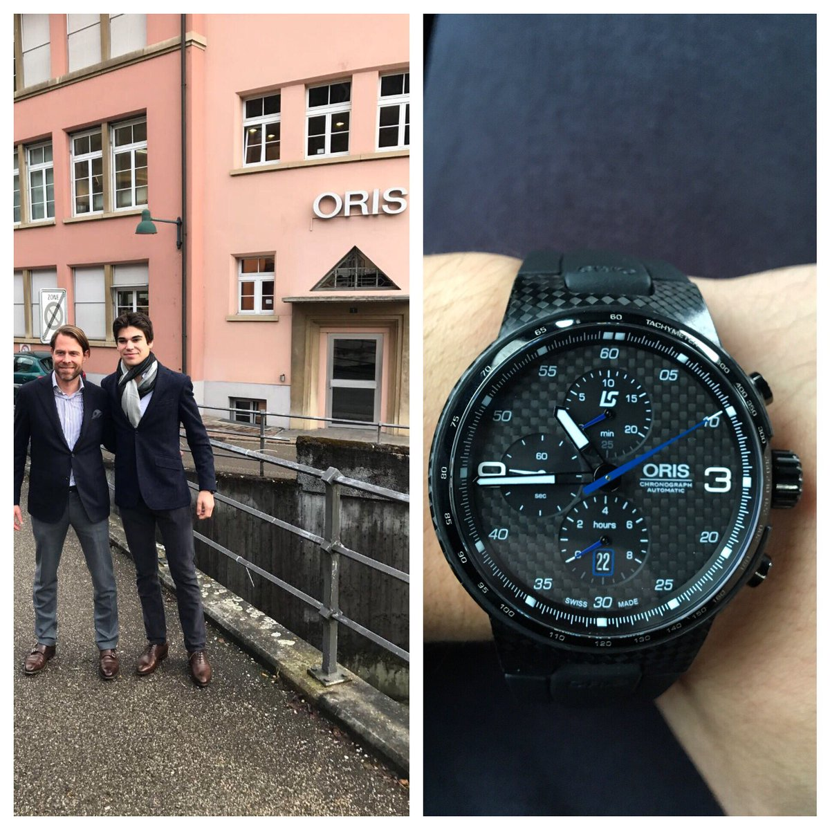 Thanks @oriswatches for showing me around today.. And thanks for the watch 👌 @WilliamsRacing