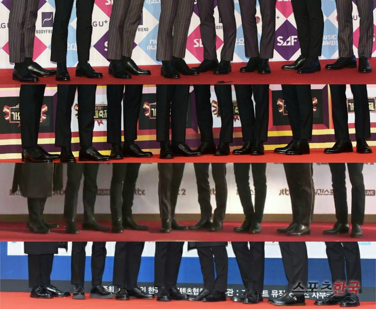 even EXO\'s standing position says \
