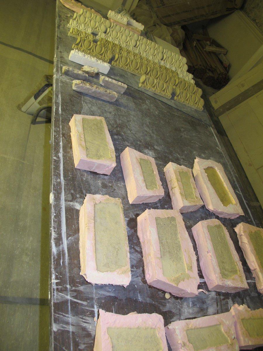 resin mortar moulds at Sandycombe Lodge, #Turner #craft #building #architecture @TurnersHouse @fullersbuilders @HLFLondon<br>http://pic.twitter.com/oXdclSLdGk