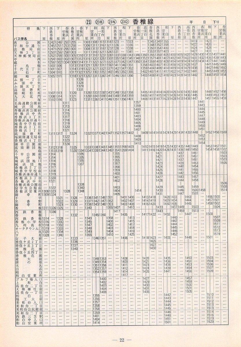 西鉄 バス 時刻 表