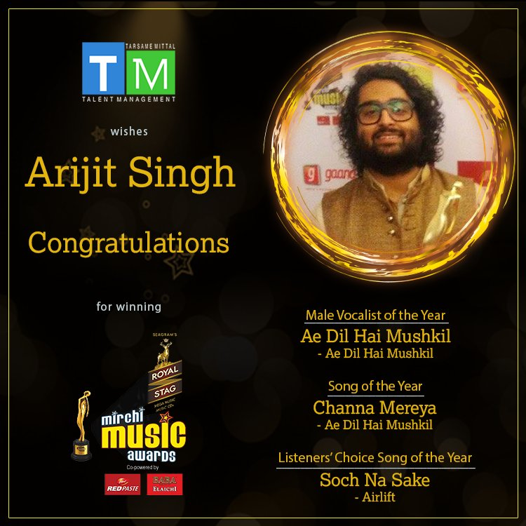 Voice that won the heart's of many! Congratulations #tmexclusive @raiisonai on winning the #MaleVocalistOfTheYear in #MirchiMusicAwards.<br>http://pic.twitter.com/4dYfhV5p5d