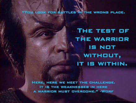 Worf&#39;s #WednesdayWisdom  #TheResistance is not a violent movement and must remain so. We fight with phone calls, our wallets, and our votes. <br>http://pic.twitter.com/581cqbsV0N