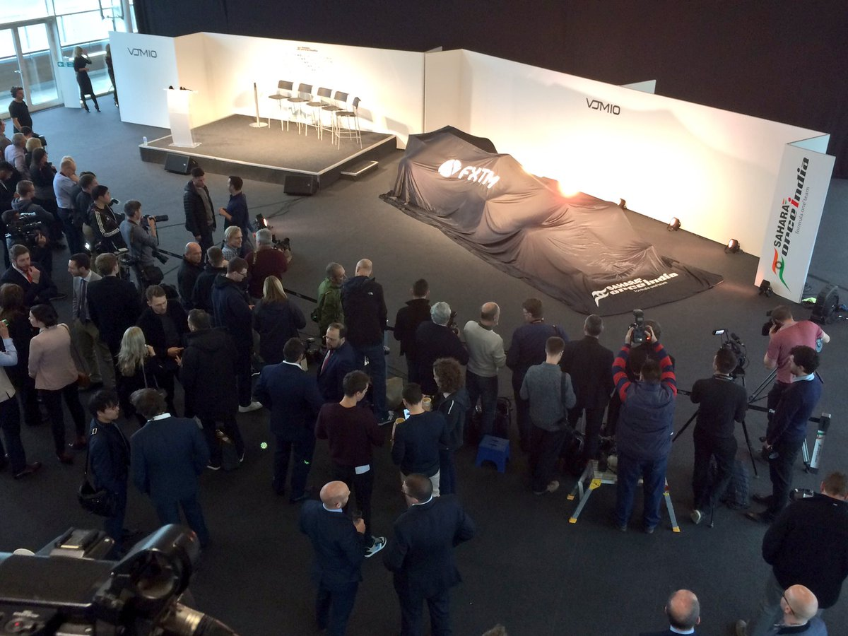 The scene is set to welcome our latest car - the 10th Force India in o...
