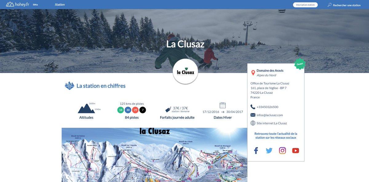 La station @LaClusaz a mis à jour sa fiche sur @hohey_fr : découvrez sa fiche station mise à jour :  https:// hohey.fr/station/pyrene es/la-clusaz &nbsp; …   #ski #snow <br>http://pic.twitter.com/QsK8q02xhP