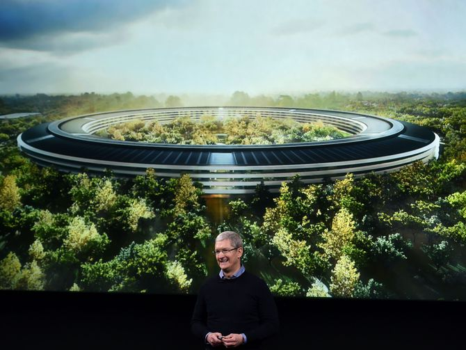 Futuristic Apple Park headquarters open in April https://t.co/jF1Qd9xd...
