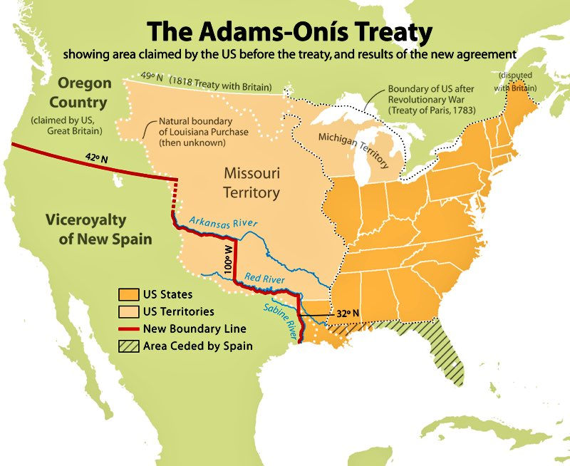 Image result for adams onis treaty