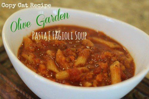 Copycat Recipe: Olive Garden Pasta E Fagioli Soup (Slow Cooker)