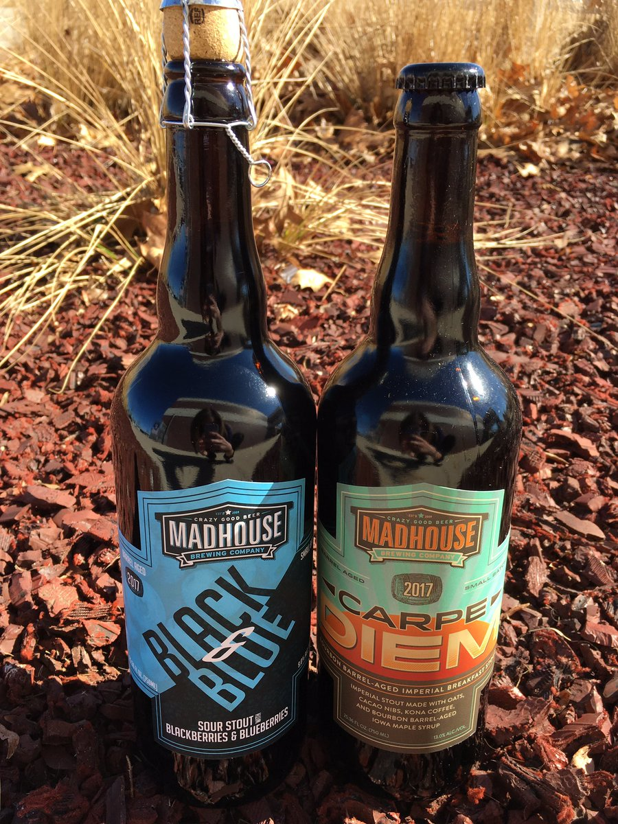 Hurry in while supplies of @MadhouseBeer Black or Blue and Carpe Diem...