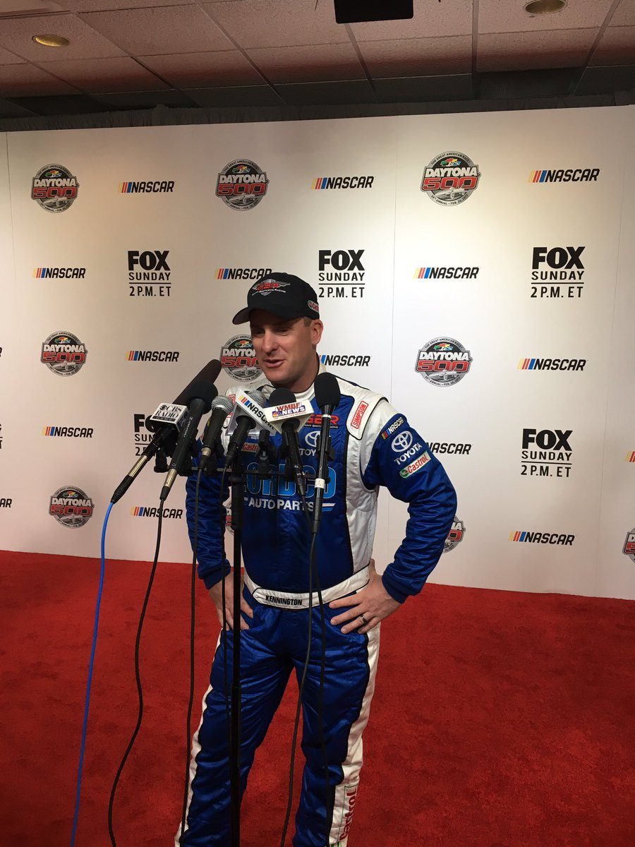 .@DJKRacing starts his #Daytona500  media day on the Red carpet. #NASCAR <br>http://pic.twitter.com/QE575FTccy