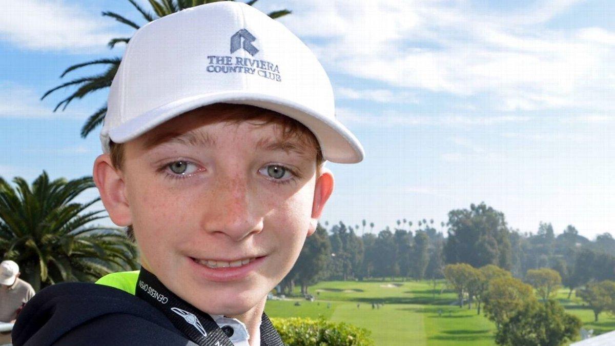 Top golfers embrace boy in race to cure rare disease https://t.co/jaUz...