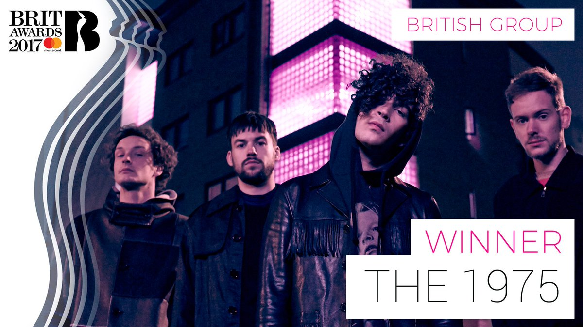 The winner of British Group at The #BRITs 2017 is @the1975!! 🎉 https:/...