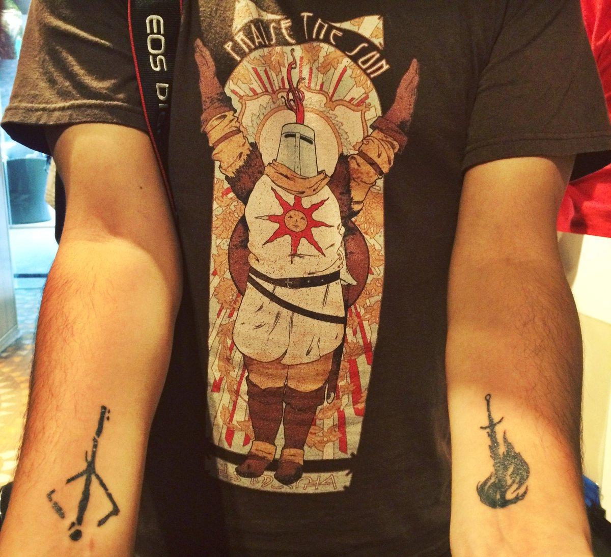 Dark sun tattoo