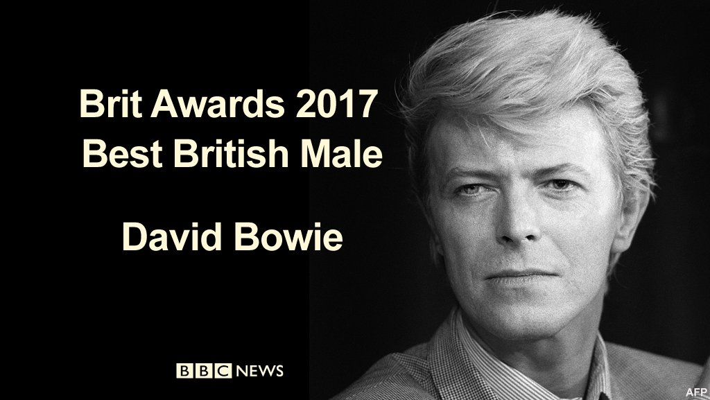 David Bowie wins best British Male Solo Artist at the #BRITs  https://...