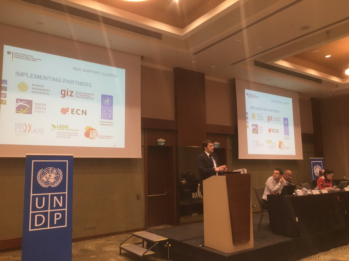 At @UNDP @UNFCCC &amp; @EUClimateAction talk on achieving #ParisAgreement, @BMZ_Bund notes importance of gov. led approach to #climate targets<br>http://pic.twitter.com/OhQGFXPCkI