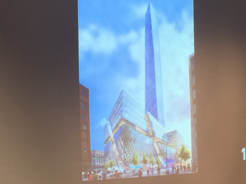 First look: new building on Hudson's block will rise 734 feet to become Detroit's tallest building. https://t.co/EQmfT57a5R