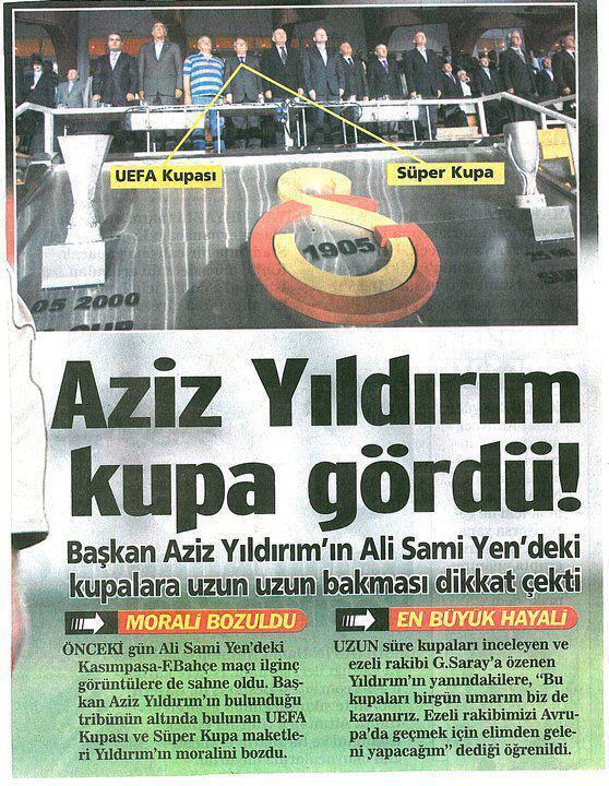 🤣 Aziz Yıldırım'ın gördüğü Galatasaray kupaları UEFA🏆 Süper🏆 Süper Lig...